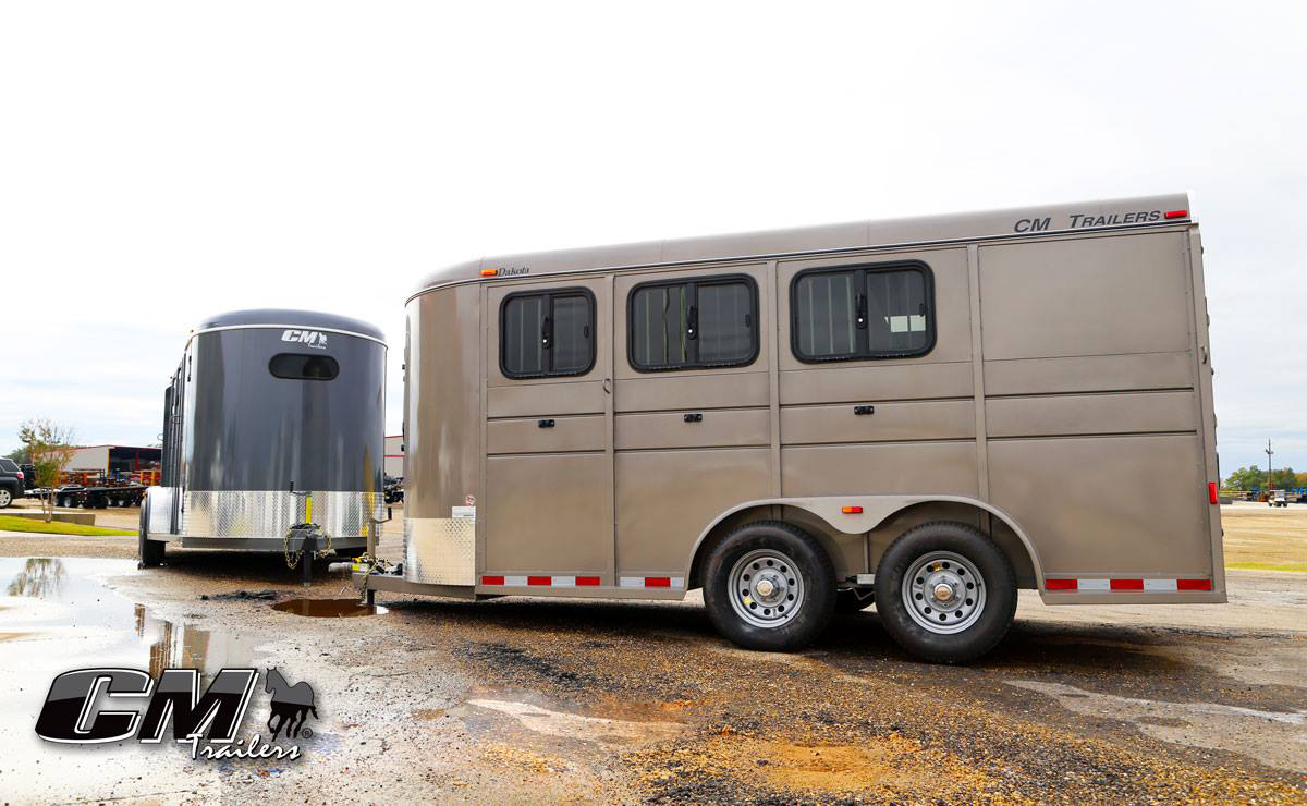 Cm Trailers All Aluminum Steel Horse Livestock Cargo Used Gooseneck Wiring Harness On Boxes Weve Got You Taken Care Of